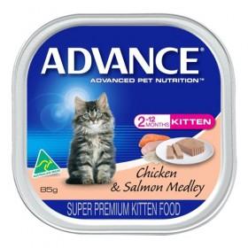 Advance Cat Kitten Chicken and Salmon Medley 85g x 7