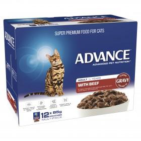 Advance Cat Adult Beef in Gravy 85g x 12