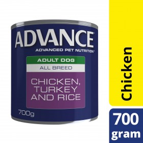Advance Dog Adult Chicken Turkey Rice 700g x 12