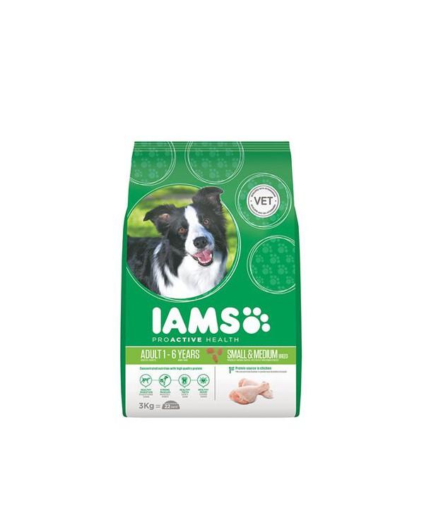 IAMS DOG ADULT SML~MED 3KG