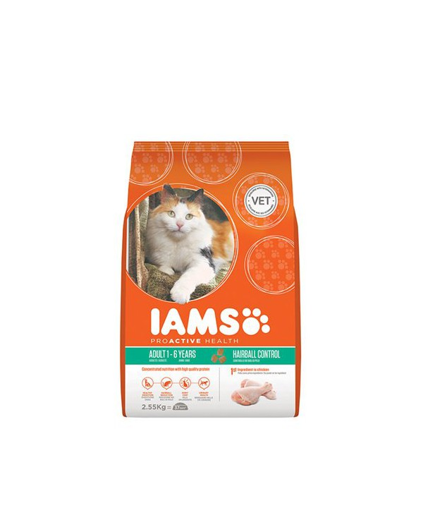IAMS CAT HAIRBALL 2.55KG