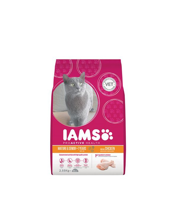 IAMS CAT ACTIVE MATURE AND SENIOR -CHK- 2.55KG