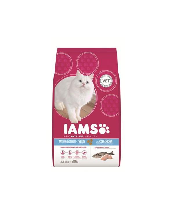 IAMS CAT ACTIVE MATURE AND SENIOR -FISH- 2.55KG