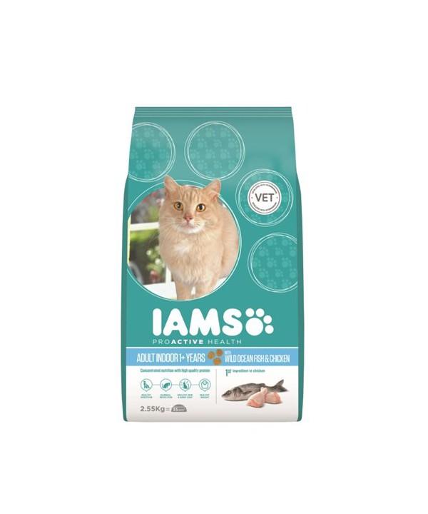 IAMS CAT INDOOR 2.55KG