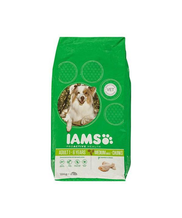 IAMS DOG ADULT CHUNKS 18KG