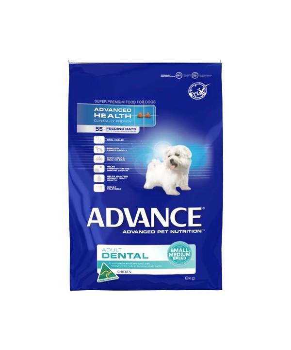 ADV DOG ADULT DENTAL SMALL~MEDIUM BR CHK 8KG