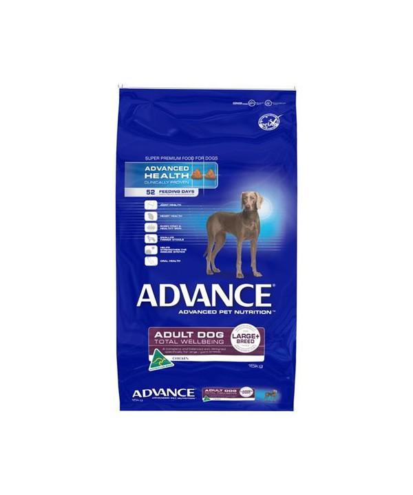 ADV DOG ADULT TWB LGE+ BR CHK 15KG