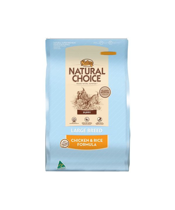 NUTRO PUPPY LGE BR CHK RICE 15KG