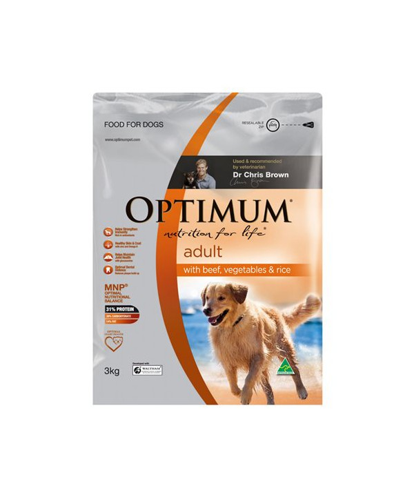 OPTIMUM DOG ADULT BF VEG RICE 3KG