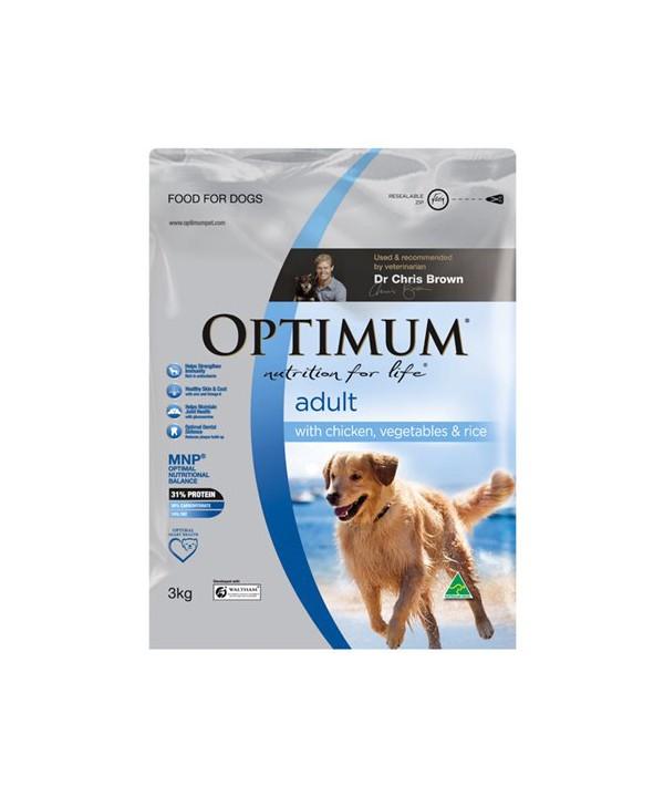 OPTIMUM DOG ADULT CHK VEG RICE 3KG