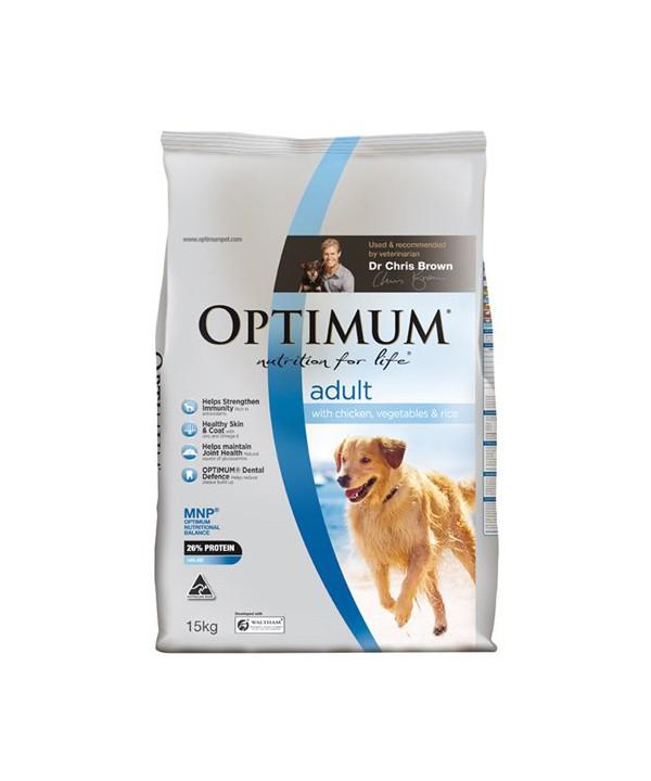 OPTIMUM DOG ADULT CHK VEG RICE 15KG
