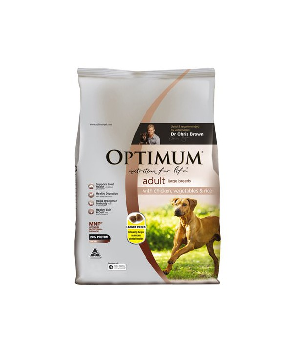 OPTIMUM DOG ADULT LGE BR CHK 15KG