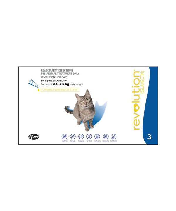 REVOLUTION CAT 2.6-7.5KG BLUE 3s
