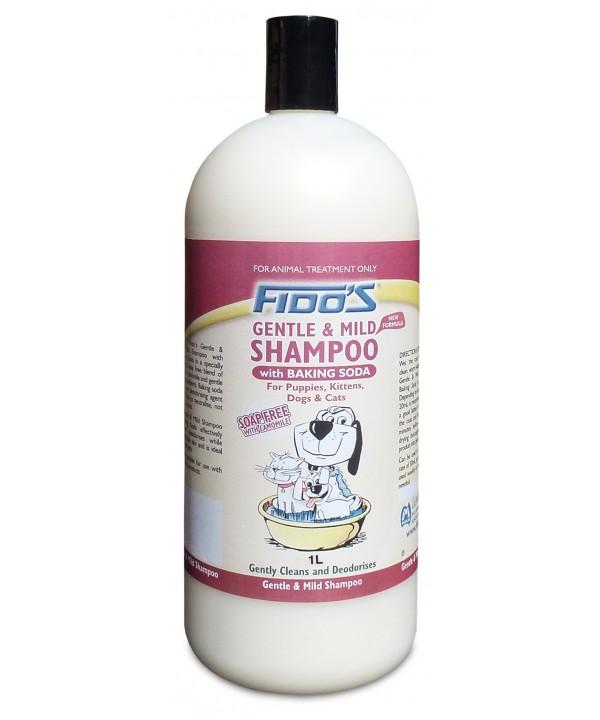 FIDOS GENTLE AND MILD SHAMPOO -W BAKING SODA- 1L