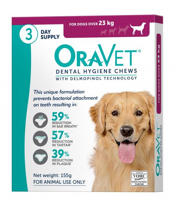 Oravet Dental Chew Large Dog - 3pk