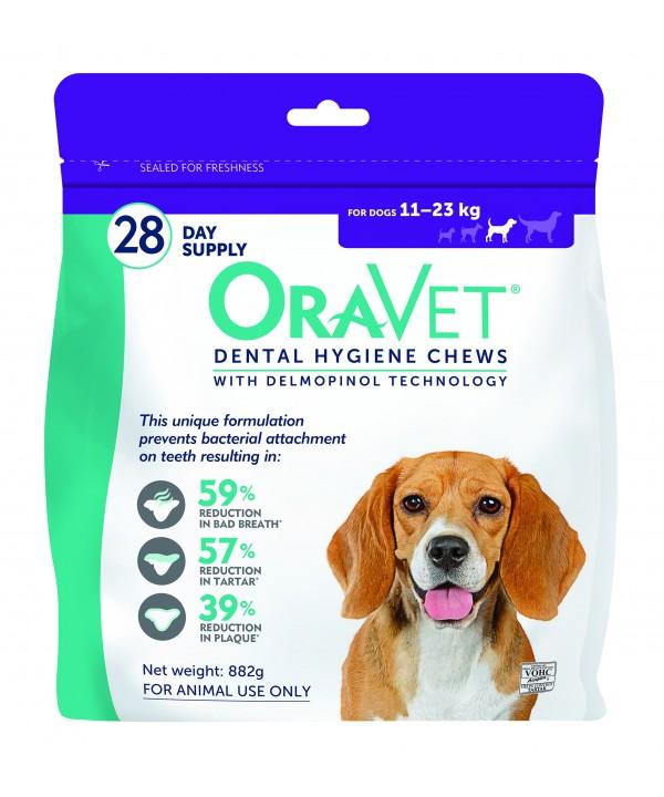 Oravet Dental Chew Medium Dog - 28pk