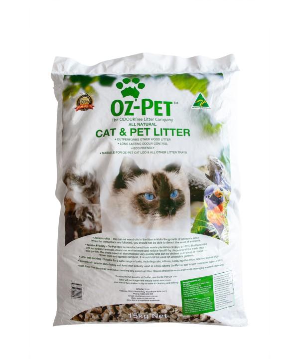OZ PET ANIMAL LITTER 15KG