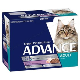 Advance Cat Adult Indoor Chicken and Turkey in Jelly 85g x 12