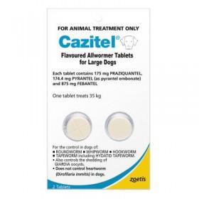 Cazitel Dog 35kg Blue - 2pk
