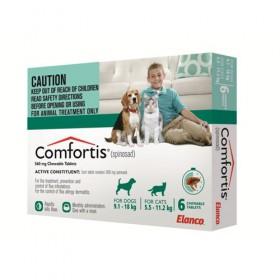Comfortis Dog Medium 9.1-18kg Green - 6pk