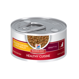 HSD FELINE ADULT ROASTED CHICKEN & RICE MEDLEY 79GX24