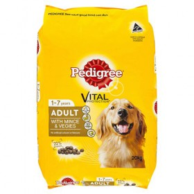 Pedigree Dog Adult Meaty Bites Mince and Veg 20kg