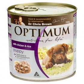 OPTIMUM PUPPY CHK RICE VEG 700GX12