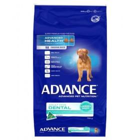ADV DOG ADULT DENTAL LGE+ BR CHK 15KG