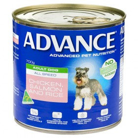 Advance Dog Adult Chicken, Salmon and Rice 700g x 12