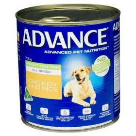 Advance Dog Adult Weight Control Chicken Rice 700g x 12