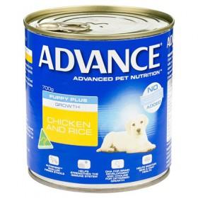 Advance Dog Puppy Plus Growth Chicken Rice 700g x 12