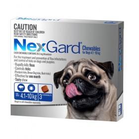 Nexgard For Dog Blue 4.1-10kg 3pk