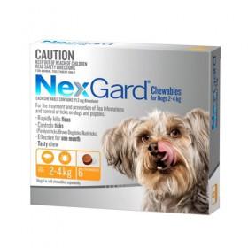 Nexgard For Dog Orange 2-4kg 6pk