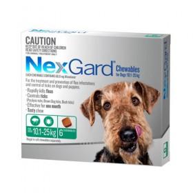 Nexgard For Dog Green 10.1-25kg 6pk
