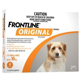 FRONTLINE ORIGINAL DOG < 10KG DOG ORANGE 4s