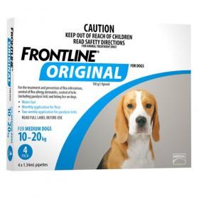 FRONTLINE ORIGINAL DOG 10-20KG DOG BLUE 4s