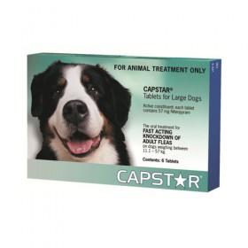 Capstar 57mg Large Dog Green 6pk