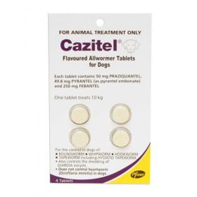 Cazitel Tab 10kg For Dog 4pk