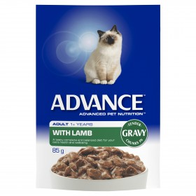 Advance Cat Adult Gravy Multipack Beef and Lamb 85g x 12