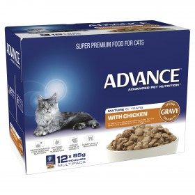 Advance Cat Healthy Ageing Chicken in Gravy 85g x 12