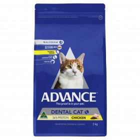 Advance Cat Adult Triple Action Dental Care Chicken with Rice 2kg