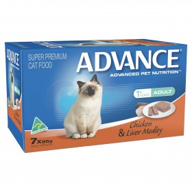 Advance Cat Adult Chicken and Liver Medley 85g x 7
