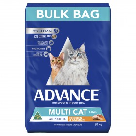 Advance Cat Adult Multi-Cat Chicken and Salmon Breeder Bag 20kg