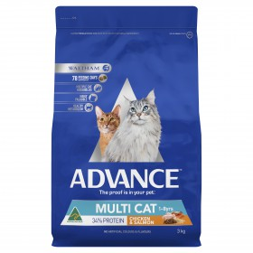 Advance Cat Adult Multi-Cat Chicken and Salmon 3kg