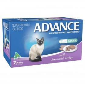 Advance Cat Adult Succulent Turkey 85g x 7