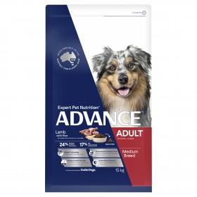 Advance Dog Adult Medium Breed Lamb with Rice 15kg