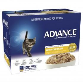 Advance Cat Kitten Chicken in Jelly 85g x 12