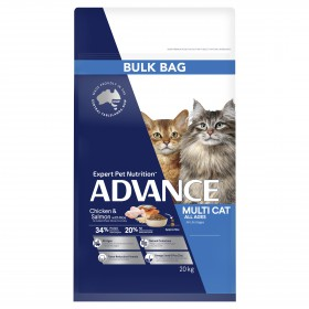 Advance Cat Adult Multi-Cat All Ages Chicken and Salmon with Rice 20kg
