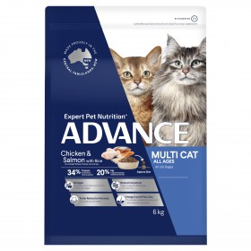 Advance Cat Adult Multi-Cat All Ages Chicken and Salmon with Rice 6kg