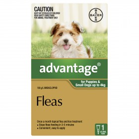 Advantage Dog Small 0-4kg Green - 1pk